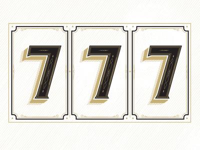 Lucky Number Seven vector illustrator lucky seven 7