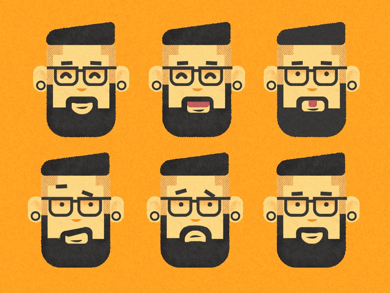 Face Expressions face expressions illustrator photoshop tattoos trendy cellphone hipster character design