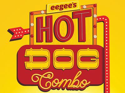 Hot Dog Combo chicago dog yellow red combo hot dog type photoshop illustrator