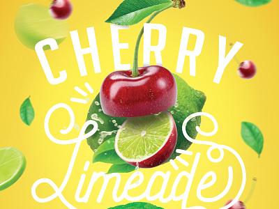 Cherry Limeage illustrator photoshop limeade lime cherry