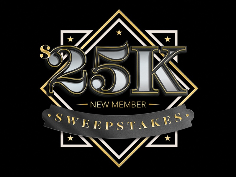 25k Sweepstakes Lockup gold black sweepstakes $25k casino illustrator photoshop