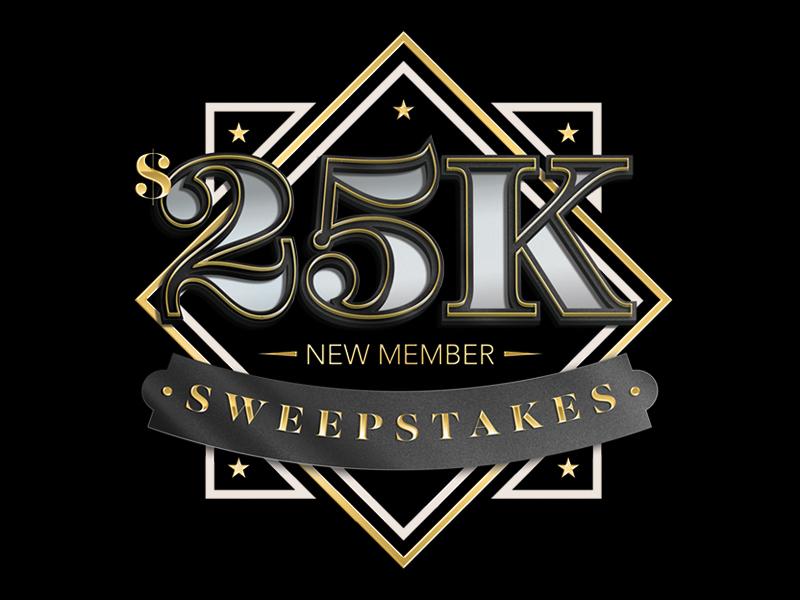 25k Sweepstakes Lockup gold black sweepstakes $25k casino illustrator photoshop