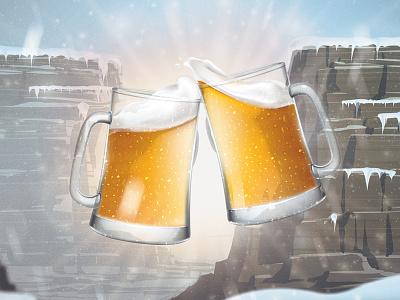 Cheers mountains snow arizona cheers beers