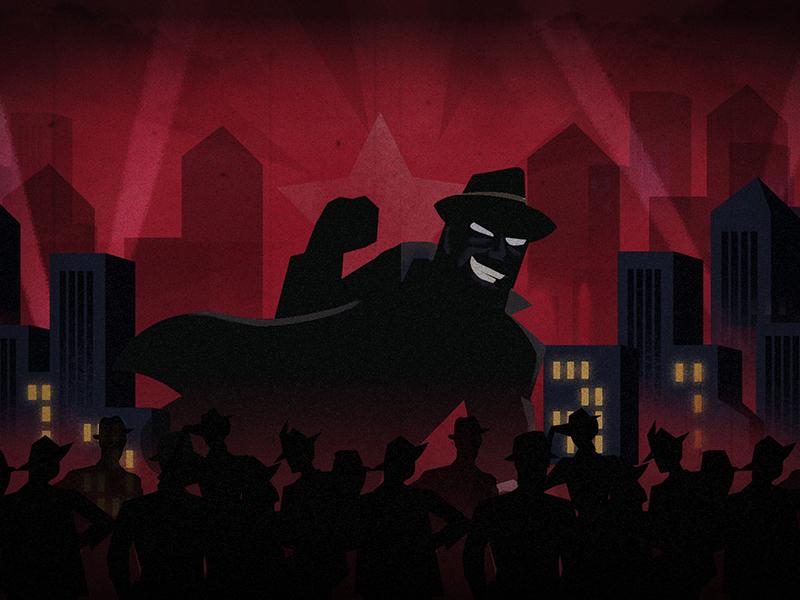 Villain photoshop retro crowd city villain evil bad guy