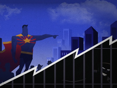 Super Hero photoshop clouds city jail villain hero super hero arizona
