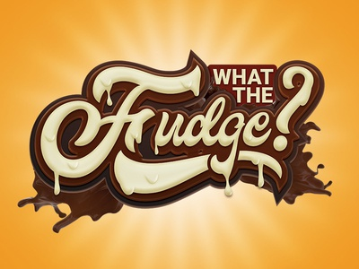 What The Fudge illustrator photoshop white chocolate chocolate fudge