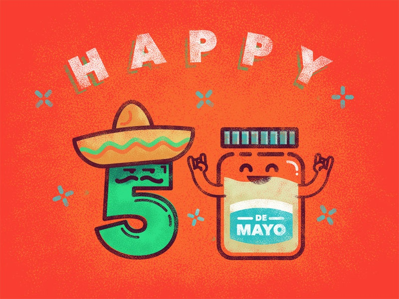 Happy Cinco De Mayo illustrator photoshop celebrate sombrero happy holiday mexican mayo cinco