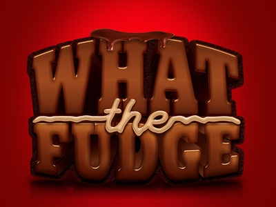 What The Fudge Logo V2 illustration type typography illustrator photoshop food logo 3d logo what the fudge fudge chocolate