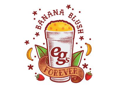 Banana Blush Tattoo tattoo leaf strawberry banana blush banana vector illustrator