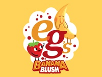 Banana Blush fruit design illustration photoshop illustrator blush banana strawberry