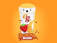 Banana Blush opt2 happy photoshop flirt blushing kiss food blush banana fruit illustration illustrator