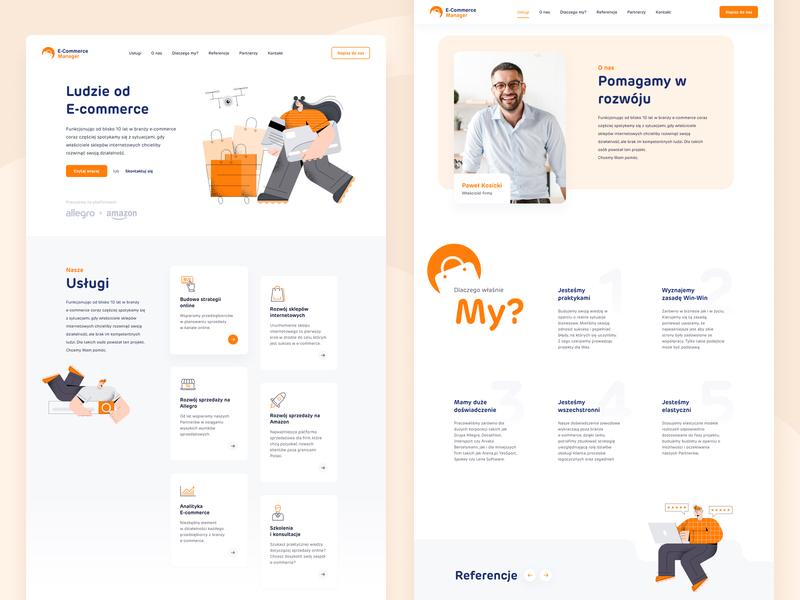 E-Commerce Manager e-commerce ecommerce website design site project landing page design landing page ui website web design
