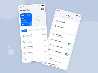Cede - Digital Bank App mobile app wallet bank app insurance card blue clean ios ui