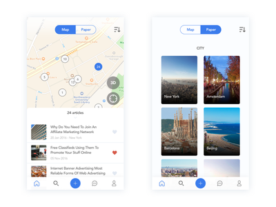 Real Estate News and Discover App real estate card map news discover real estate news