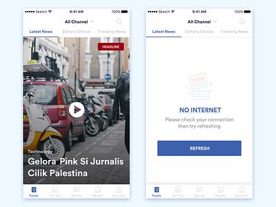 NETZ - News Mobile App blue ui news