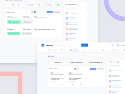 List View & Grid View list view grid view white website ux ui report insurance dashboard clean analytic