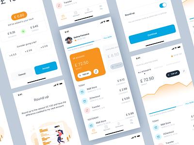 Wallet App Concept wallet financial clean blue ios ux ui
