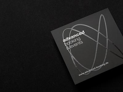 advanced V-Card print booking card black events agency vcard uv advanced