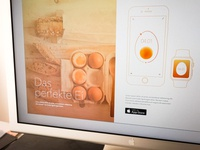 The Perfect Egg · App Microsite design iphone ios egg apple watch sketch perfect ester app breakfast