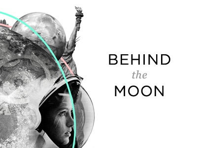 BEHIND the MOON event cologne electronic music open air moon freedom liberty astronaut planet civilisation gotham collage statue fire identity corporate