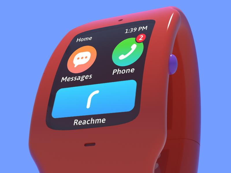Reachband product design industrial design ui ux mobile app reachme reachband interaction design