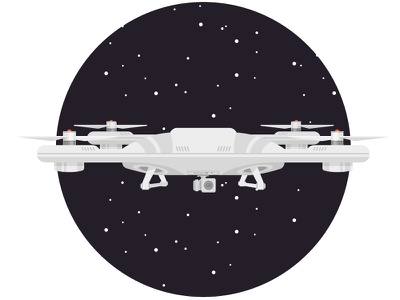 Space drone xD space icon illustration drone