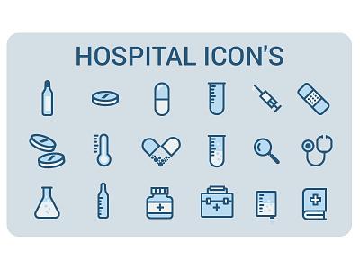 Hospital icon set pixel perfect set line medic hospital icon