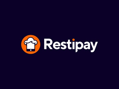 Restipay logo restaurant gedas meskunas illustration design icon glogo logo app table coin payment pay online phone mobile chef hat chef