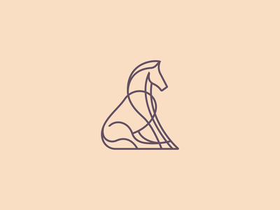 Horse logo vector gedas meskunas illustration design icon glogo logo skill art riding club bingo riding sitting knight steed outline tale lines mustang horse