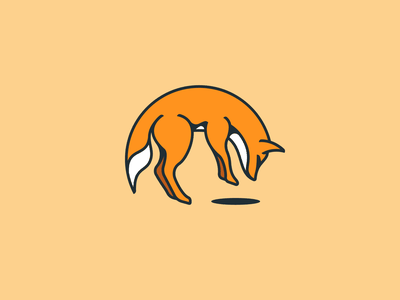 Old Foxes logo design hunting outlines vectotr outline branding illustration gedas meskunas design icon glogo logo animal forest brand clothing outdoor jump old wolf fox