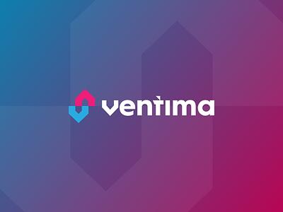 Ventima Logo design vector branding gedas meskunas design icon glogo logo exterior interior projecting instalation arrows cool hvac house home cooling heating ventilation ventima