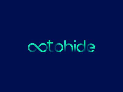 OctoHide - Infinity Logo Design hidden arrow octopus loop wordmark vector branding illustration gedas meskunas design icon glogo logo eight infinity octa hide octo