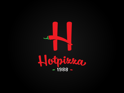 Hot Pizza logo design italy red cook bakery vector branding illustration gedas meskunas design icon glogo logo monogram letter heat pepper chili pica pizza hot