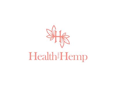 Health from Hemp vector illustration monogram branding gedas meskunas design icon glogo logo cbd oil cosmetics medic medicine health herb weed hemp cannabis hemps