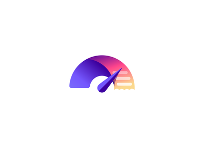 Spendometer Logo vector branding illustration gedas meskunas design icon glogo logo graph funds saving costs money receipt check bill spendometer meter spend