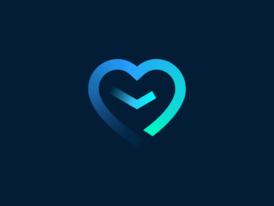Timle - logo design feelings vector branding illustration gedas meskunas design icon glogo logo way journey path heart love clock time