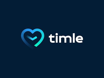 Timle - logo design vector branding illustration gedas meskunas design icon glogo logo journey path love heart watch clock time