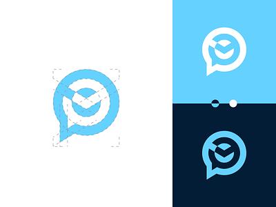 TimeChat logo design vector branding illustration gedas meskunas design icon glogo logo talk baloon arrow message chat clock time
