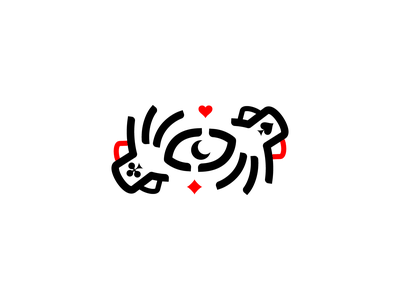 Magic Hands logo moon eye line vector branding illustration game future gedas meskunas design icon glogo logo vines heart tarot cards wizard magic hands