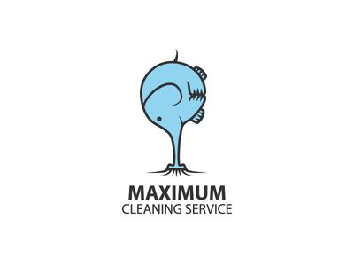 Maximum power logo illustration vector clean cleaner vacuum cleaner pump elephant animals service cleaning