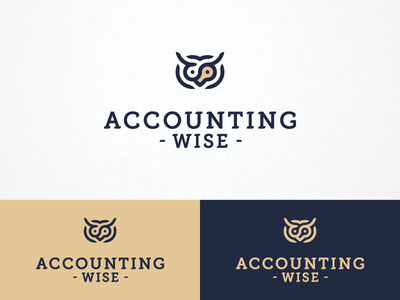 Accounting Wise logo smart bird outline owl wise accounting