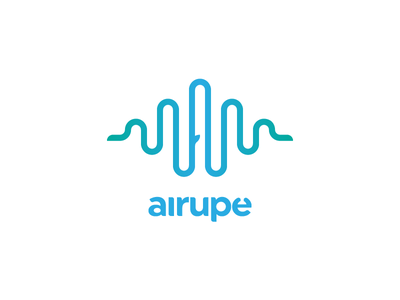 Airupe | gLogo | Gedas Meskunas sound wave water river logo design air a