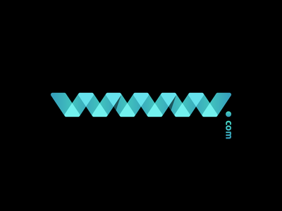 www.com brand identity logo creation gedas meskunas waves water illustration design glogo logo web letter blue black gradient transparent dot com url internet www