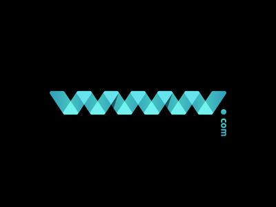 www.com brand identity logo creation gedas meskunas waves water illustration design glogo logo web letter blue black gradient transparent dot com url internet www