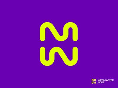 M+W+N in negative space / mark / logo / icon monogram negative space line gedas meskunas branding design glogo illustration logo creation mark logo icon node webmaster marketing agency marketing web letter