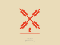 Windmill bakery logo design