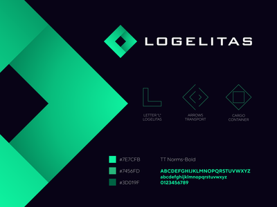 Logelitas - logistic company logo / icon / explanation