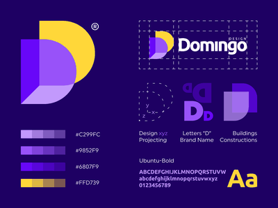 DomingoDesign logo vectors art domingo grid explanation architecture constructions project buildings vector letter monogram logo creation branding gedas meskunas illustration design icon glogo logo