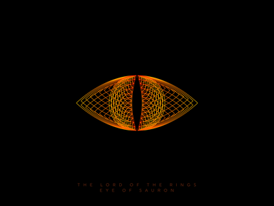 The Lord of The Rings - Eye of Sauron ball fire eye lord of the rings lord movie favorit film weekly warm-up lineart vector gradient logo creation branding gedas meskunas illustration design icon glogo logo