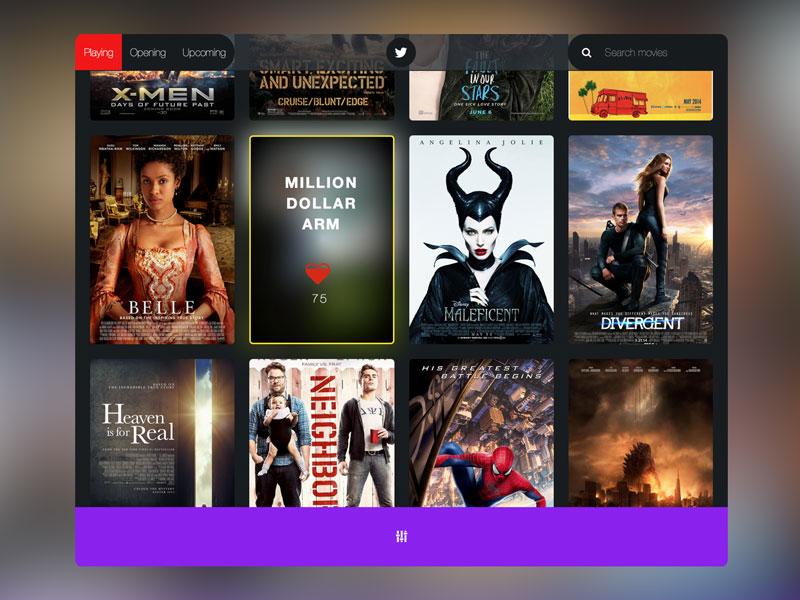 showing.io app web movies webapp